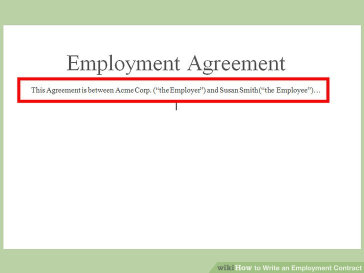 How to Write an Employment Contract (with Pictures) - wikiHow - job agreement contract