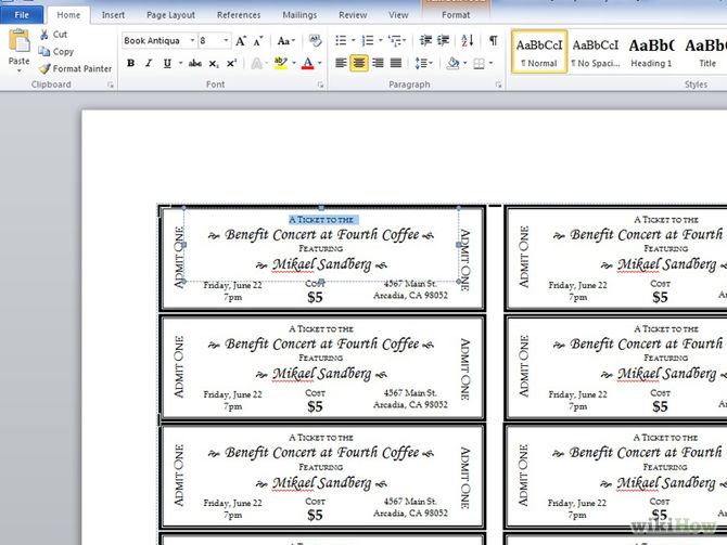 ticket template microsoft word