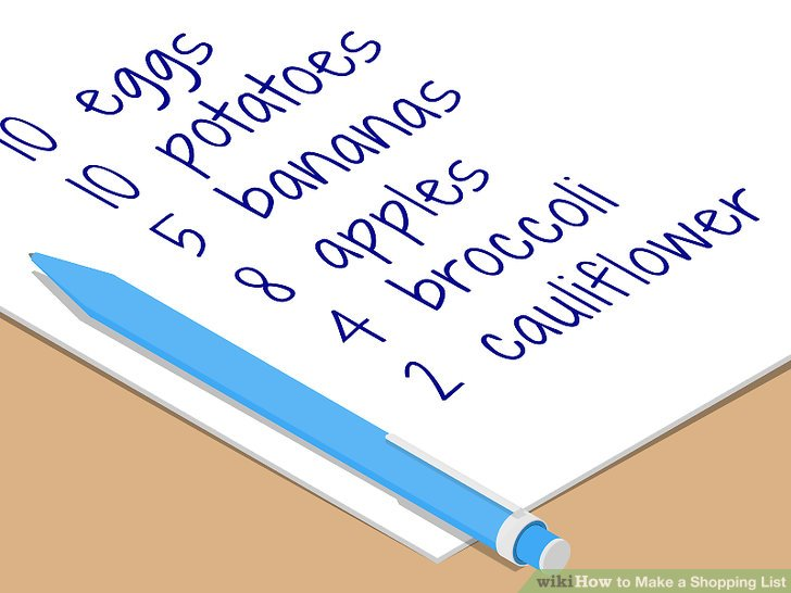 How to Make a Shopping List (with Pictures) - wikiHow - shopping lists