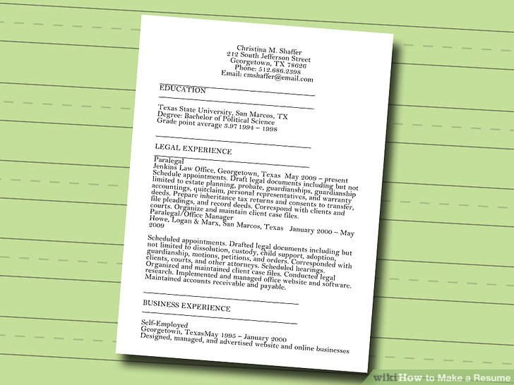 7 Ways to Make a Resume - wikiHow - How To Prepare Resume