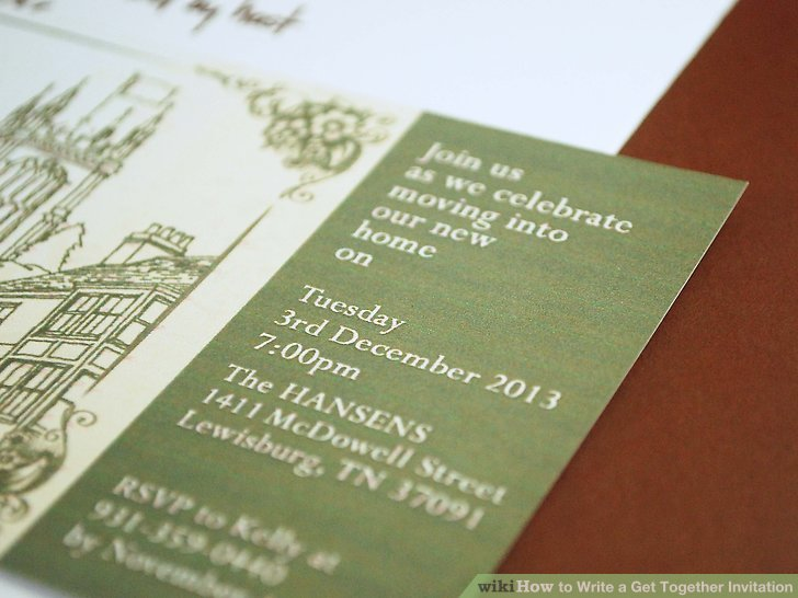 How to Write a Get Together Invitation 8 Steps (with Pictures) - invitation for a get together