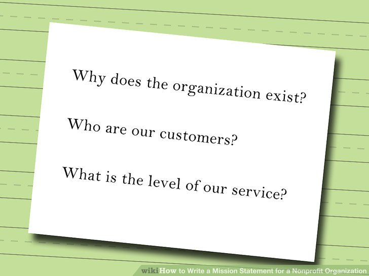 How to Write a Mission Statement for a Nonprofit Organization (with