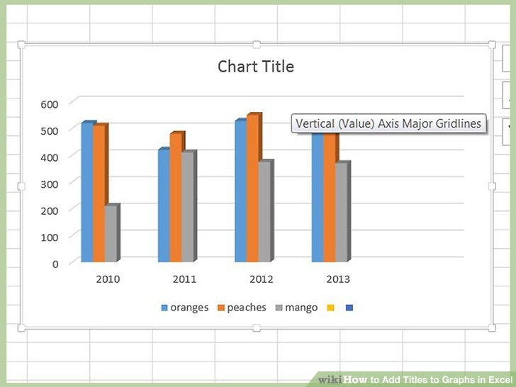 How to Add Titles to Graphs in Excel 8 Steps (with Pictures)