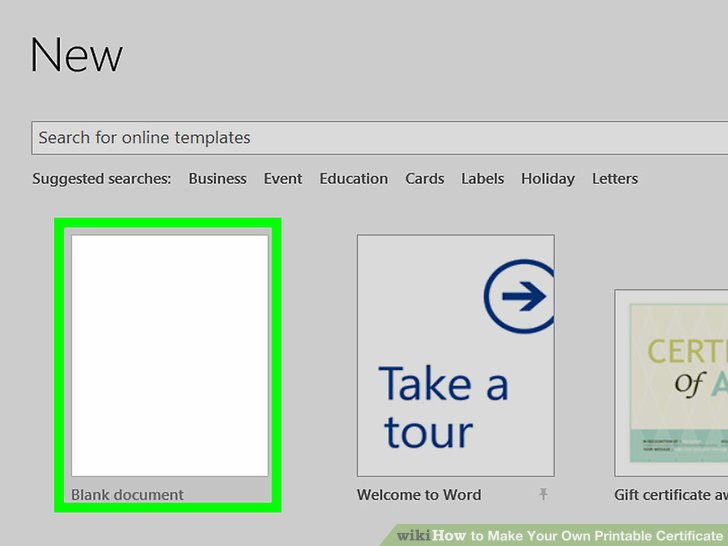 3 Ways to Make Your Own Printable Certificate - wikiHow - create your own voucher template