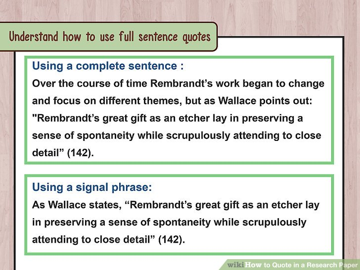 How to Quote in a Research Paper (with Examples) - wikiHow