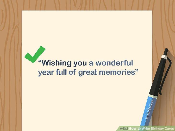 3 Ways to Write Birthday Cards - wikiHow