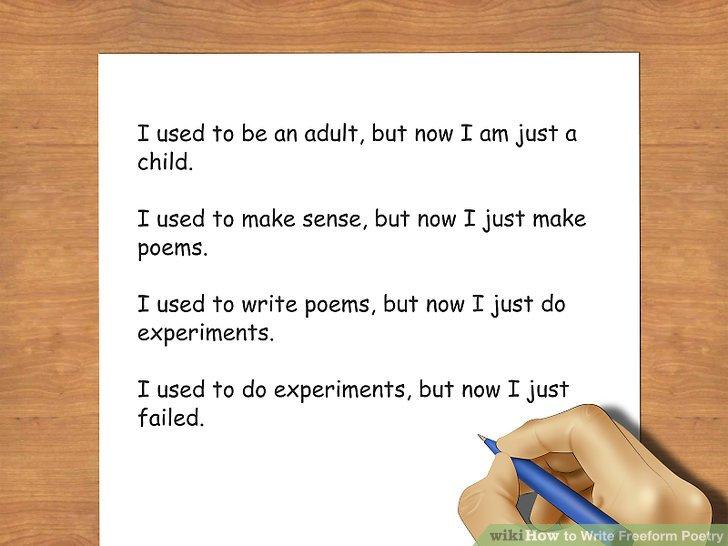 4 Ways To Write Freeform Poetry Wikihow