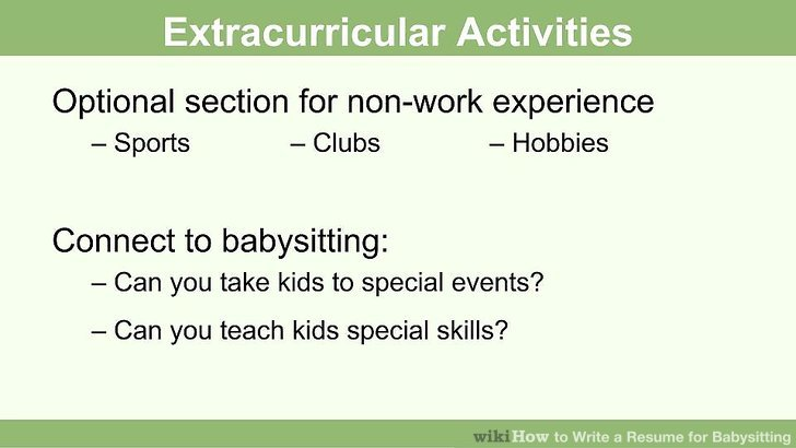 How to Write a Resume for Babysitting (with Pictures) - wikiHow - babysitting skills