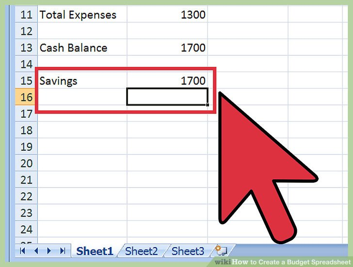 How to Create a Budget Spreadsheet 15 Steps (with Pictures)