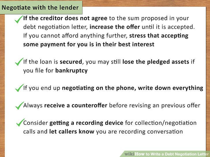 How to Write a Debt Negotiation Letter (with Pictures) - wikiHow