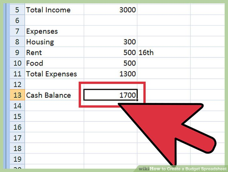 How to Create a Budget Spreadsheet (with Pictures) - wikiHow
