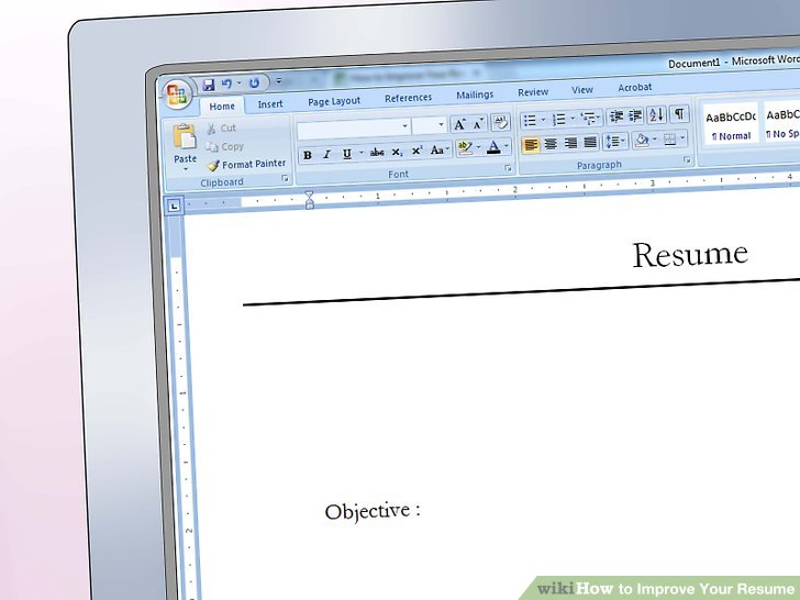 2 Easy Ways to Improve Your Resume (with Pictures) - what should your resume look like