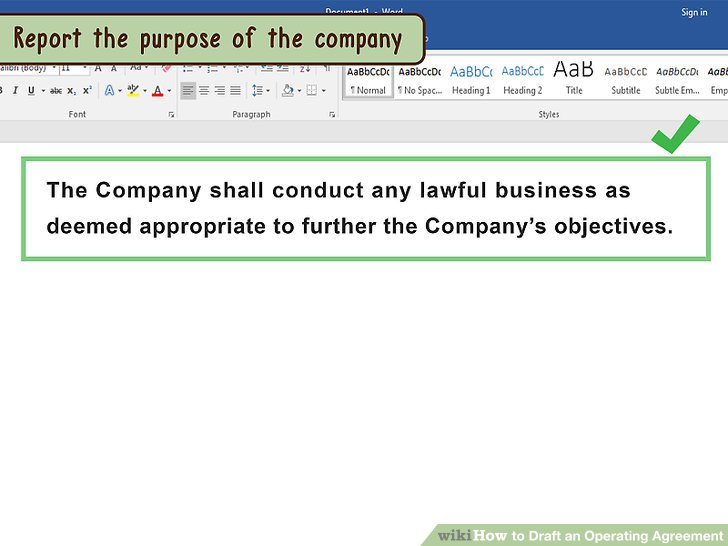 How to Draft an Operating Agreement (with Pictures) - wikiHow - business operating agreement