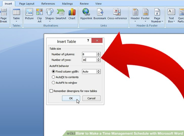 How to Make a Time Management Schedule with Microsoft Word