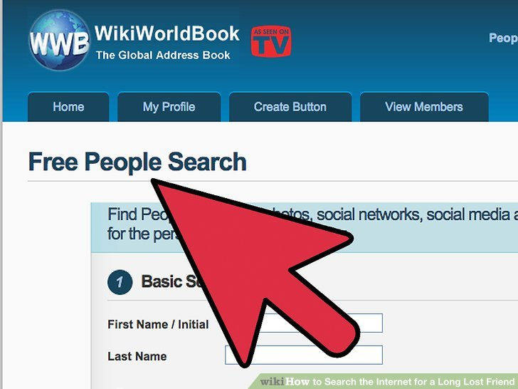 How to Search on the Internet for a Long Lost Friend 5 Steps