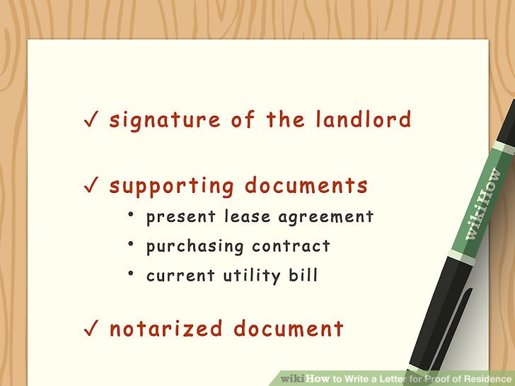 How to Write a Letter for Proof of Residence (with Sample Letter) - proof of rent letter from landlord sample