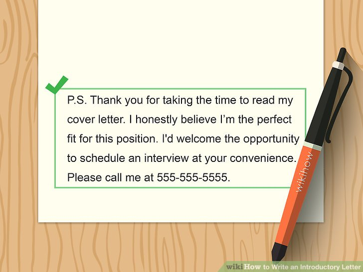 How to Write an Introductory Letter 12 Steps (with Pictures)