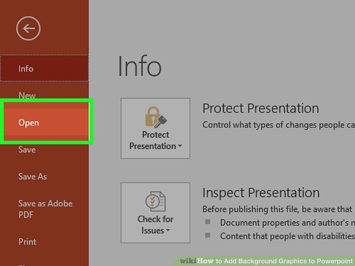How to Add Background Graphics to Powerpoint (with Pictures)