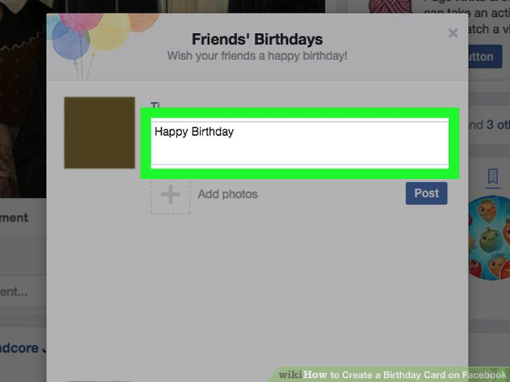 3 Ways to Create a Birthday Card on Facebook - wikiHow
