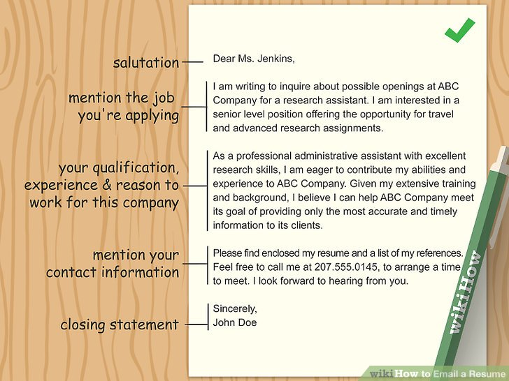 How to Email a Resume (with Pictures) - wikiHow