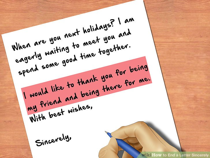 How to End a Letter Sincerely 8 Steps (with Pictures) - wikiHow