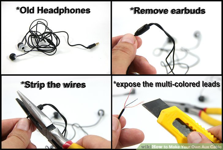 How to Make Your Own Aux Cable 7 Steps (with Pictures) - wikiHow