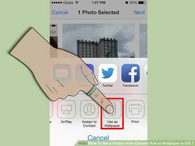 How to Set a Picture from Camera Roll as Wallpaper in iOS 7