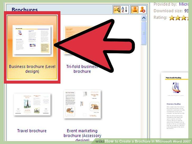 How to Create a Brochure in Microsoft Word 2007 (with Samples) - microsoft word tri fold brochure