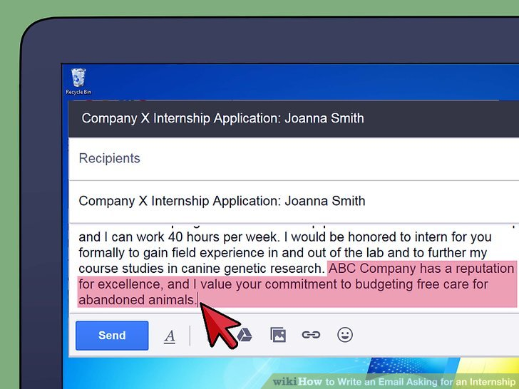 How to Write an Email Asking for an Internship (with Sample Emails) - writing internships online