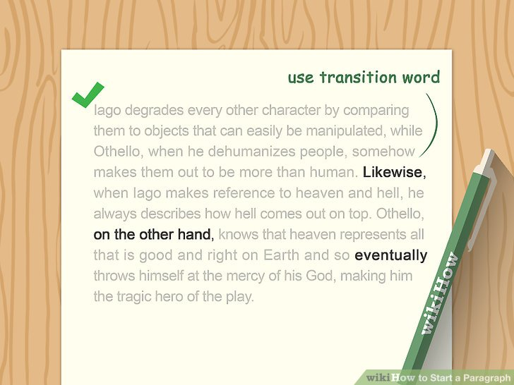 7 Ways to Start a Paragraph - wikiHow - transition to start a paragraph