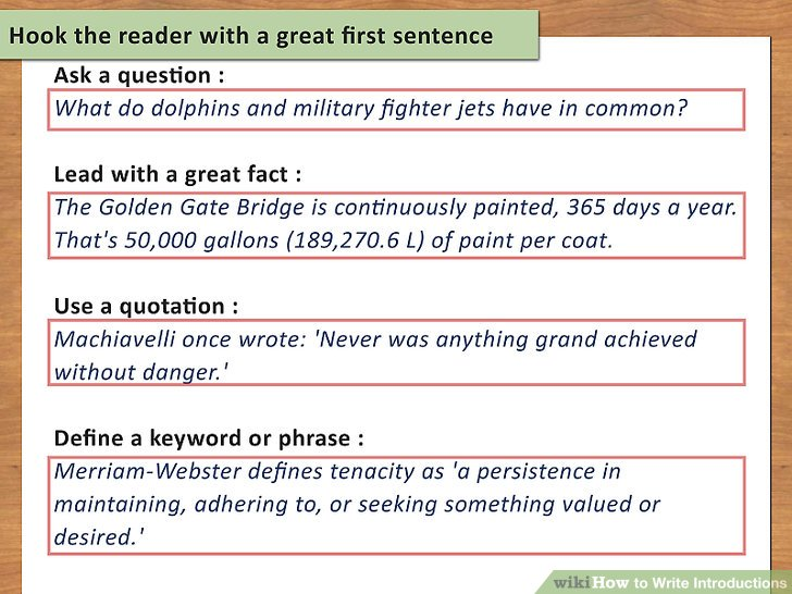 essay hooks examples ways to write introductions wikihow writing