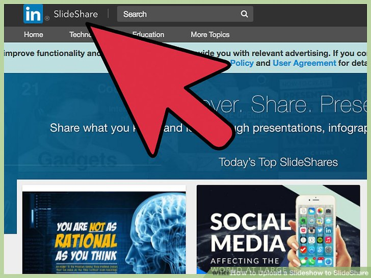How to Upload a Slideshow to SlideShare (with Pictures) - wikiHow