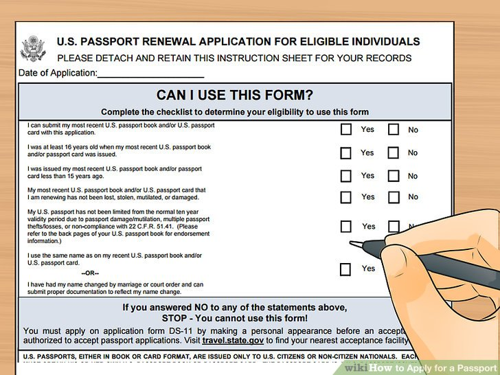 How to Apply for a Passport (with Pictures) - wikiHow - lost passport form