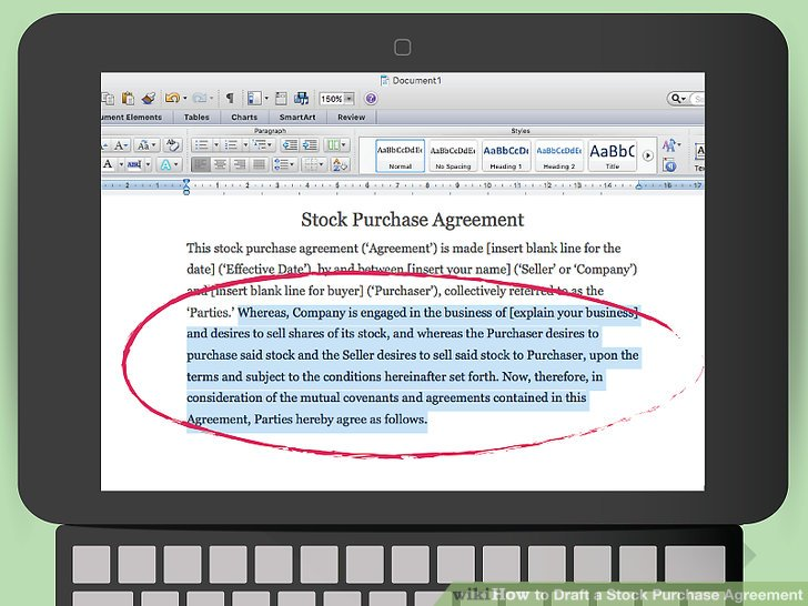 How to Draft a Stock Purchase Agreement (with Pictures) - wikiHow - stock purchase agreement