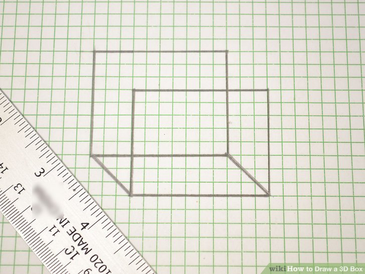 How to Draw a 3D Box 14 Steps (with Pictures) - wikiHow - 3d graph paper
