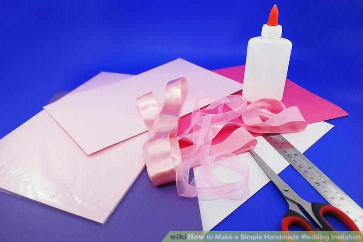 How to Make a Simple Handmade Wedding Invitation 10 Steps - Best Of Handmade Formal Invitation Card