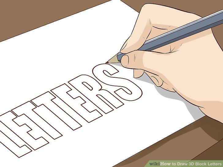 How To Draw Block Letters Alphabet Step By Bestchristmasdeals Org