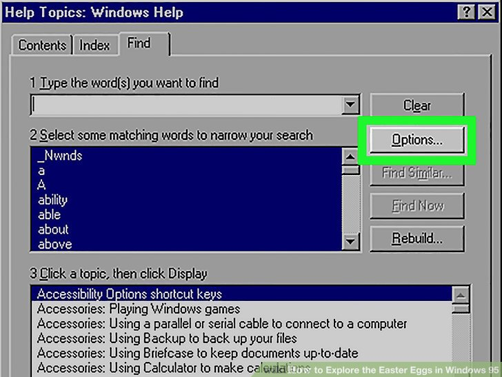 3 Ways to Explore the Easter Eggs in Windows 95 - wikiHow - microsoft word easter egg