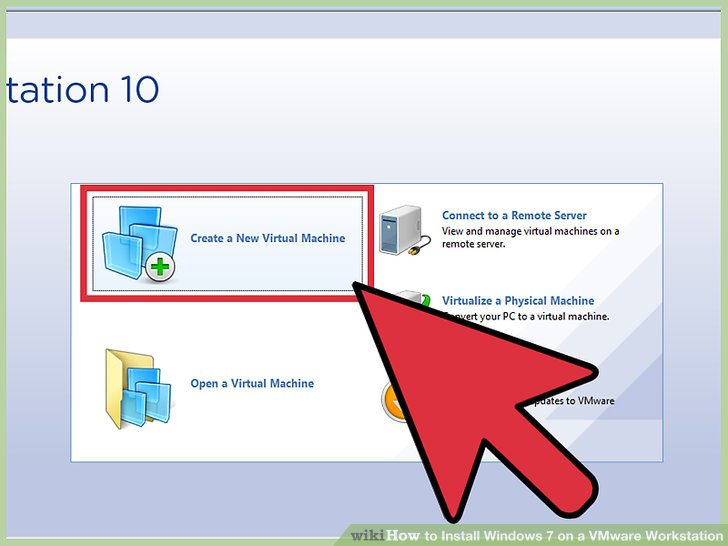 How to Install Windows 7 on a VMware Workstation 10 Steps