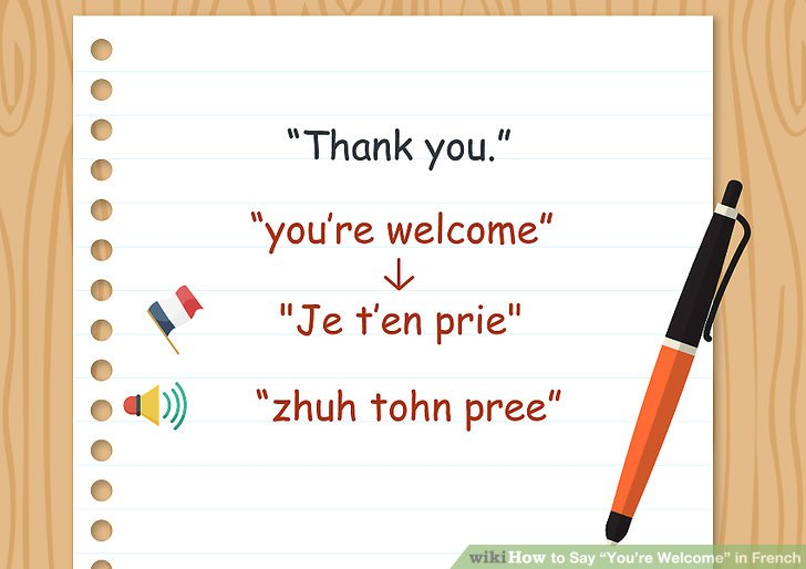 Easy Ways to Say \u201cYou\u0027re Welcome\u201d in French - wikiHow