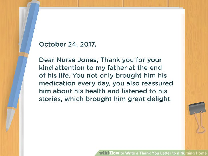 How to Write a Thank You Letter to a Nursing Home 10 Steps - sample mom thank you letter