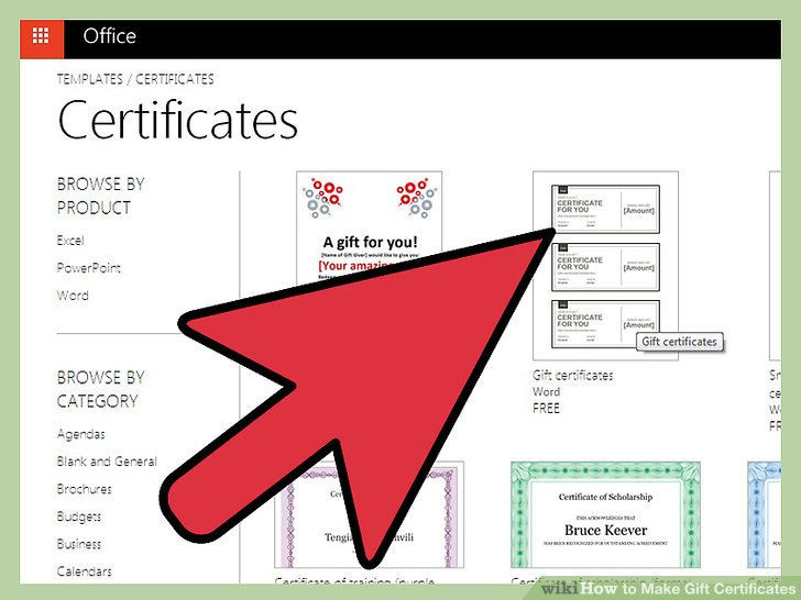 make a certificate on word