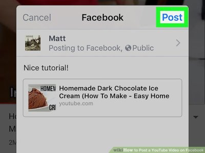 3 Ways to Post a YouTube Video on Facebook - wikiHow