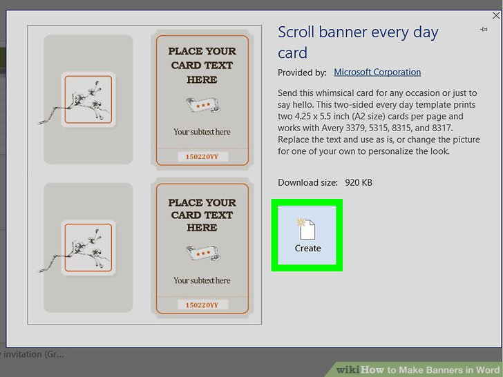 How to Make Banners in Word 9 Steps (with Pictures) - wikiHow