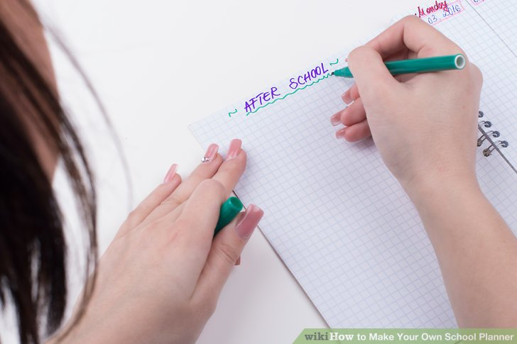 How to Make Your Own School Planner (with Pictures) - wikiHow