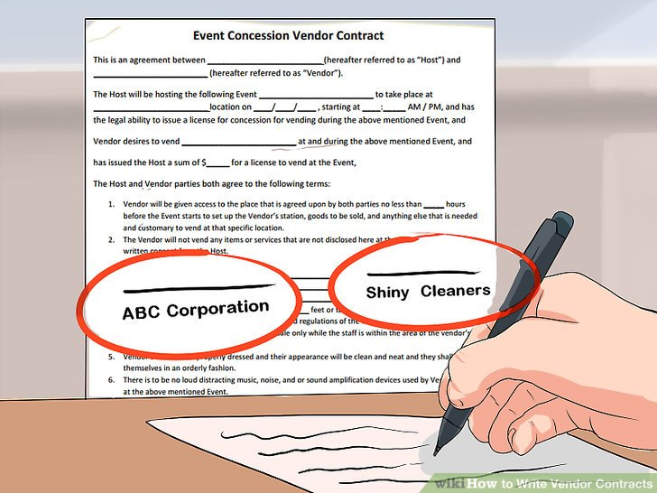How to Write Vendor Contracts (with Pictures) - wikiHow - writing contract agreements