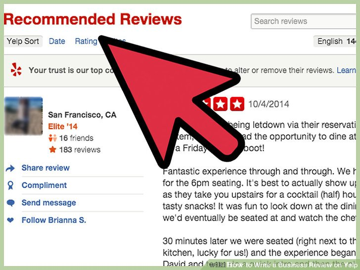 How to Write a Business Review on Yelp 8 Steps (with Pictures)