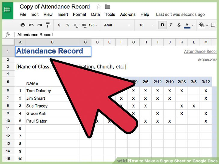 How to Make a Signup Sheet on Google Docs (with Pictures)