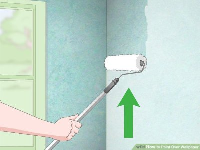 2 Easy Ways to Paint Over Wallpaper - wikiHow