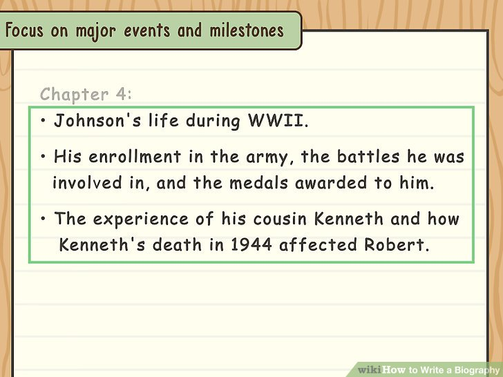 How to Write a Biography (with Examples) - wikiHow